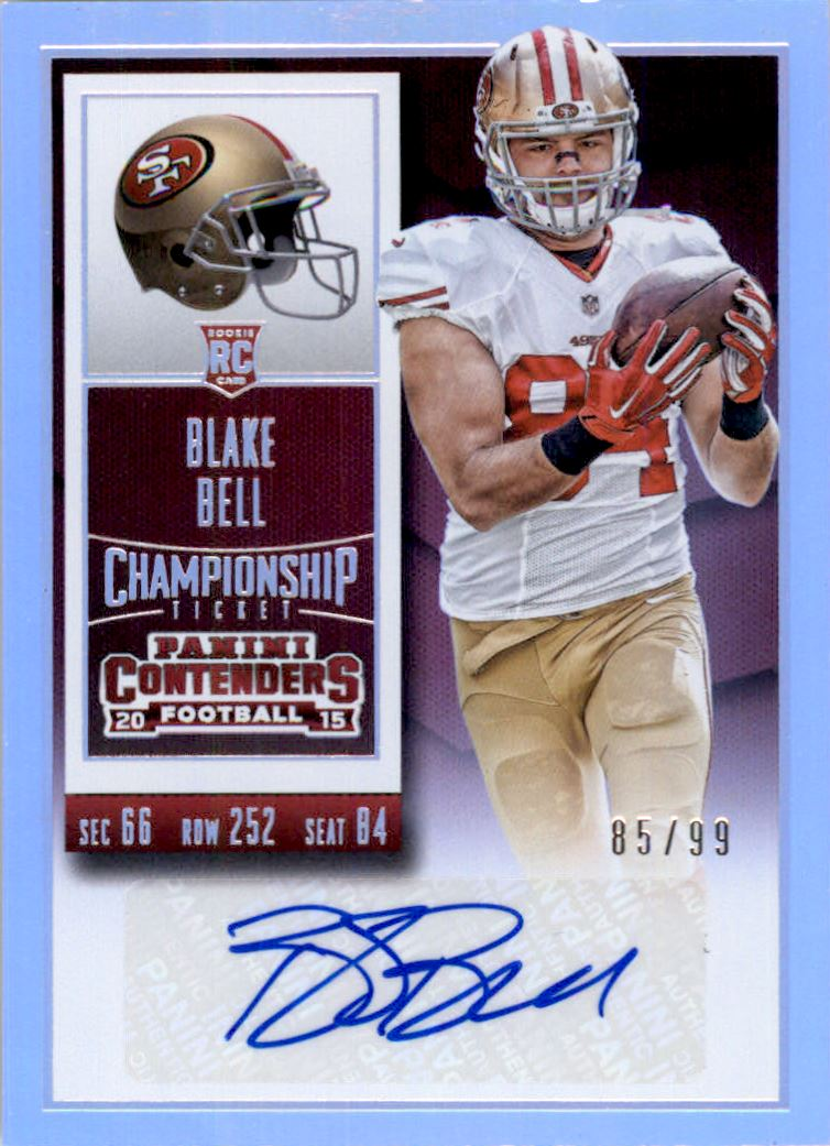 2015 Panini Contenders Championship Ticket #137A Blake Bell AU/99