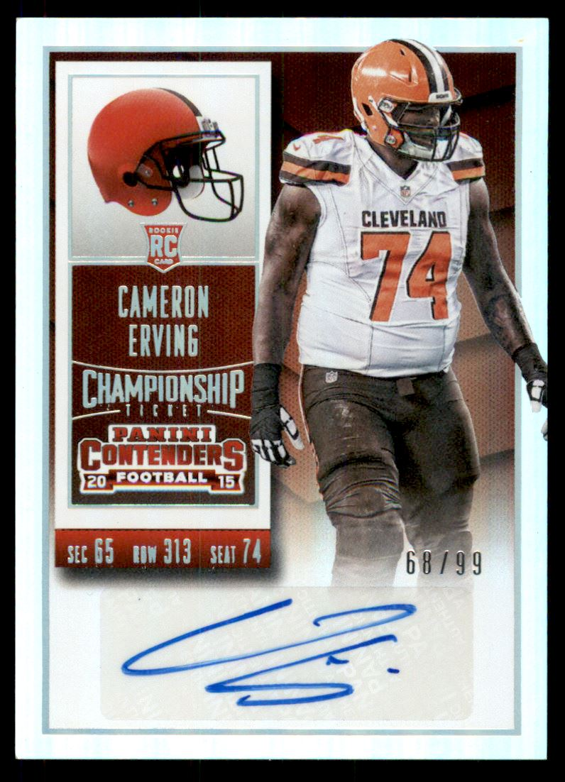 2015 Panini Contenders Championship Ticket #173A Cameron Erving AU/99