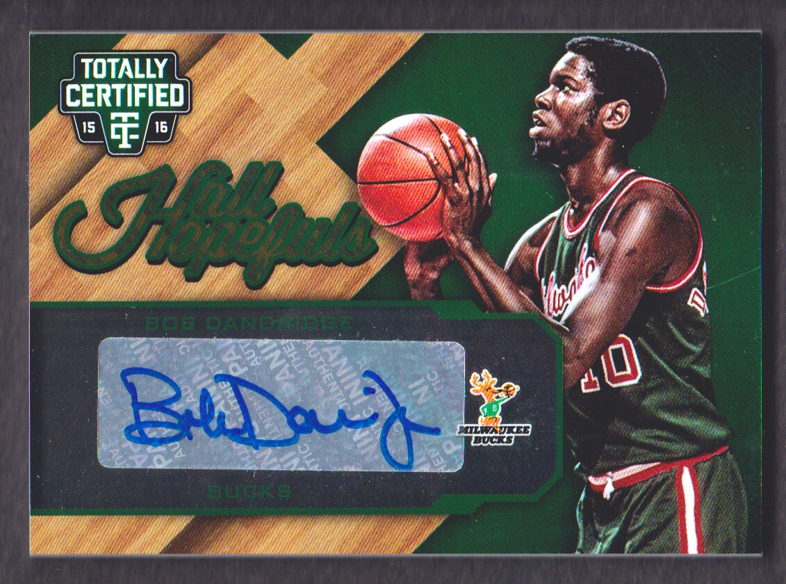 2015 16 Totally Certified Hall Hopefuls Autograph Bob Dandridge