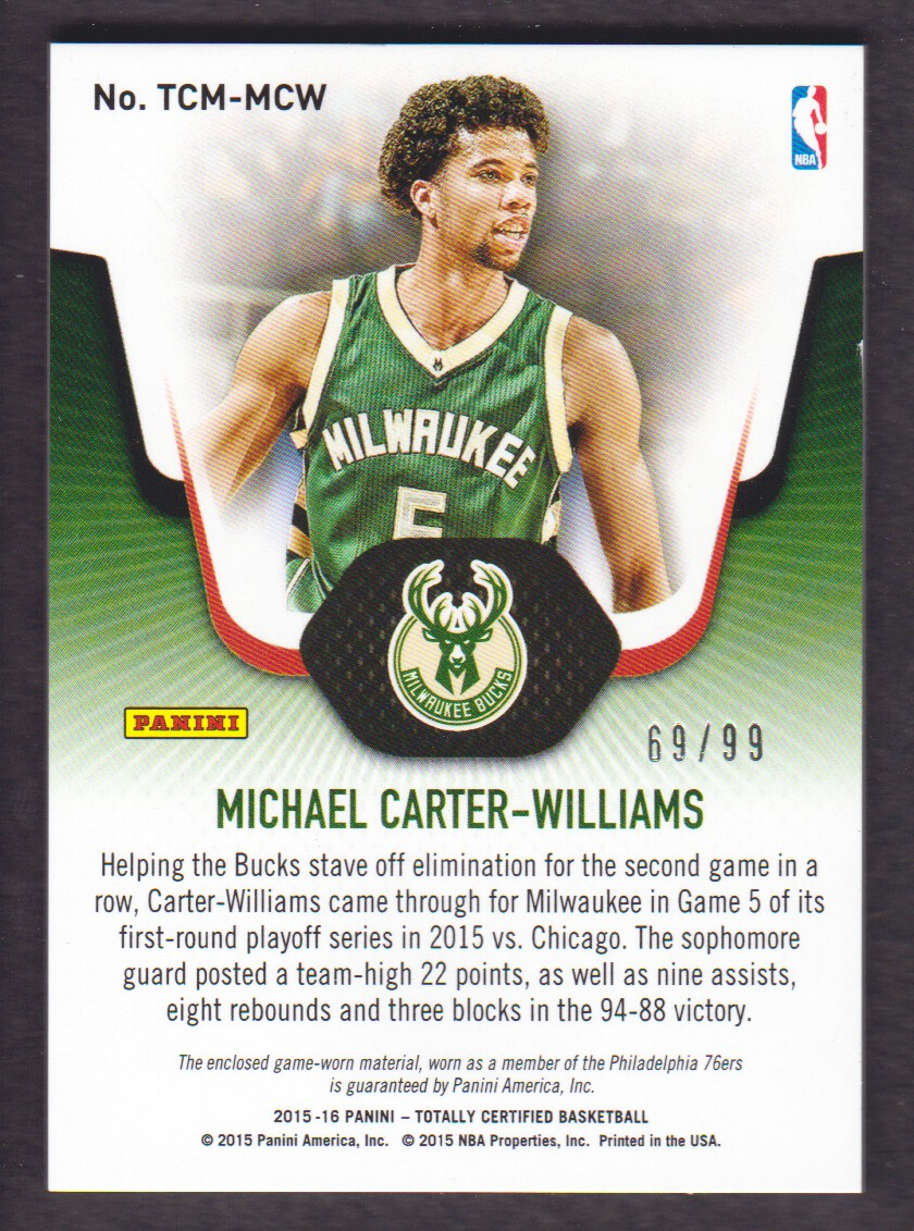 Michael Carter Williams 2015 Playoffs