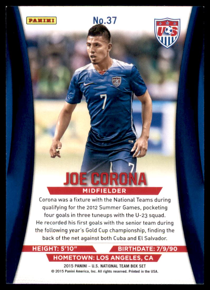 2015 Panini US National Team Soccer USA #37 Joe Corona