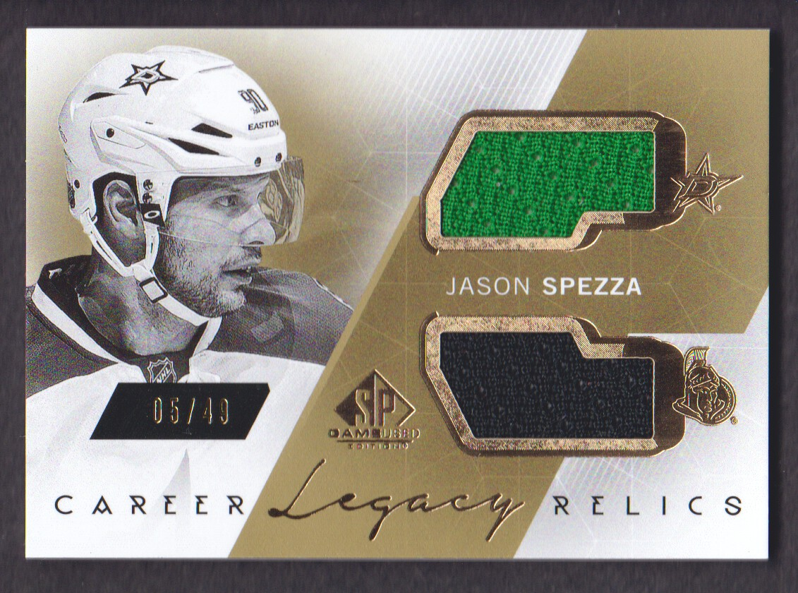 2015-16 SP Game Used Career Legacy Jerseys Gold #CLJS Jason Spezza