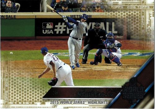 2016 Topps Gold #21 Mike Moustakas WSH