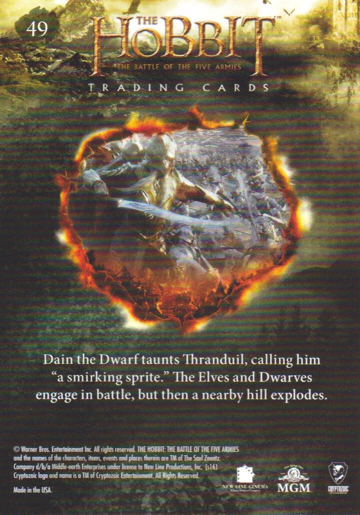 Hobbit Battle Of 5 Armies Foil Base Card #16 Keep It as a Promise