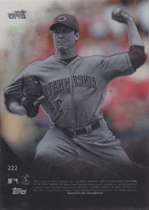 2016 Topps Clear #222 Homer Bailey back image