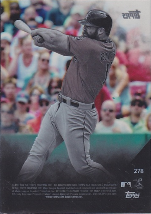 2016 Topps Clear #278 Evan Gattis back image