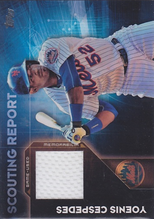 2016 Topps Scouting Report Relics #SRRYC Yoenis Cespedes