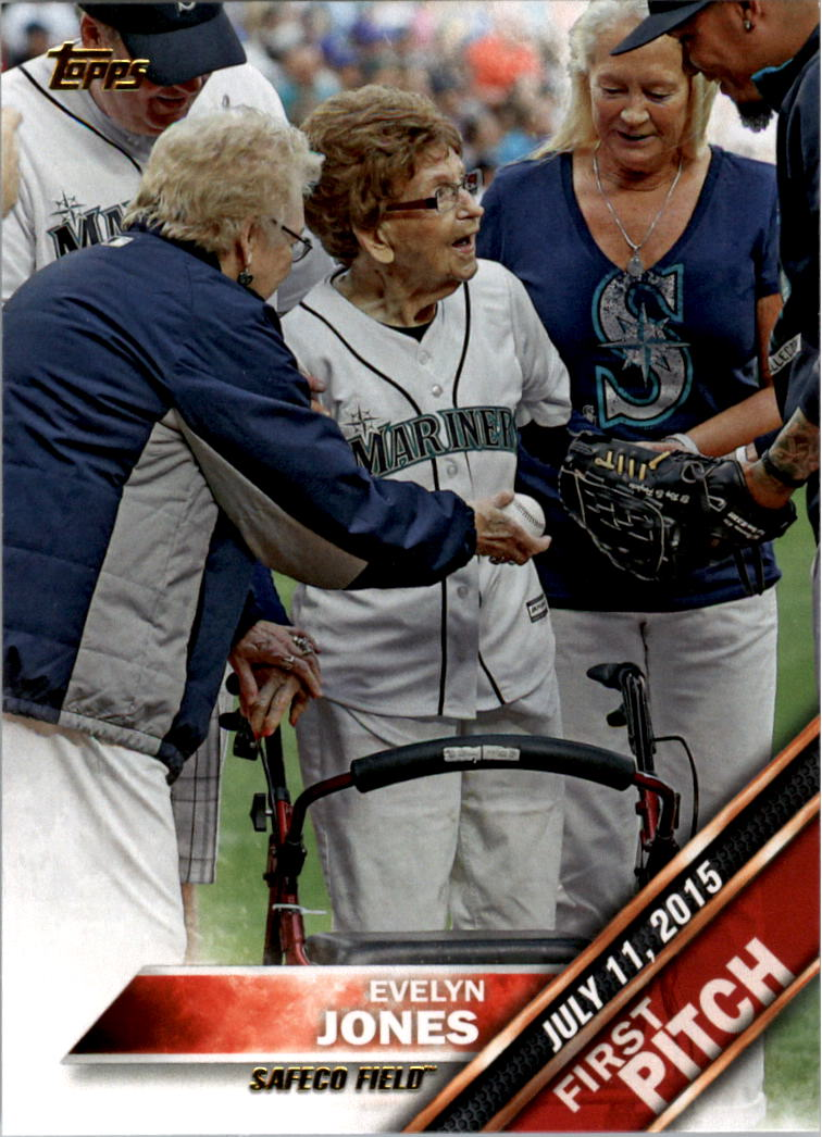 2016 Topps First Pitch #FP5 Evelyn Jones