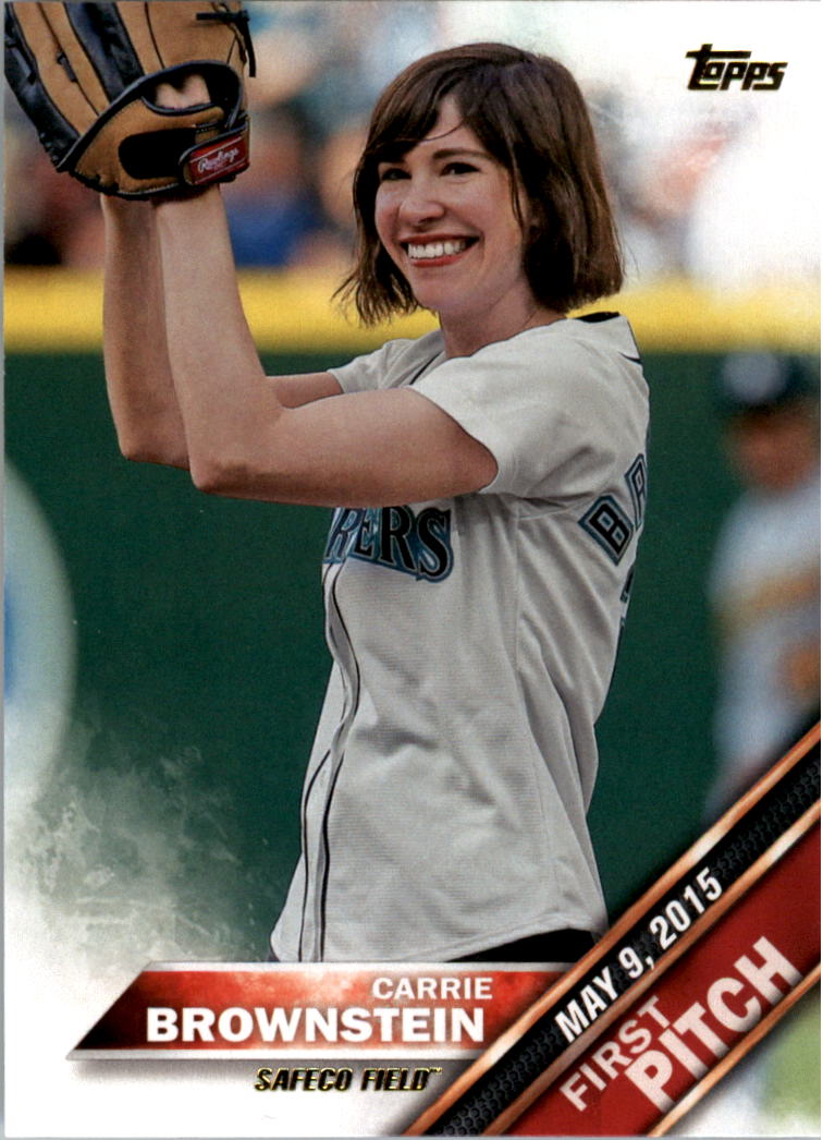 2016 Topps First Pitch #FP17 Carrie Brownstein