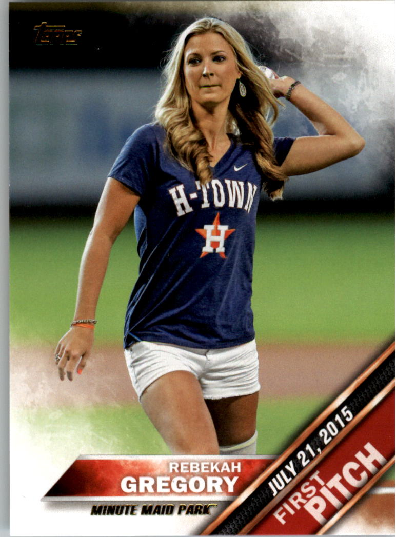 2016 Topps First Pitch #FP18 Rebekah Gregory