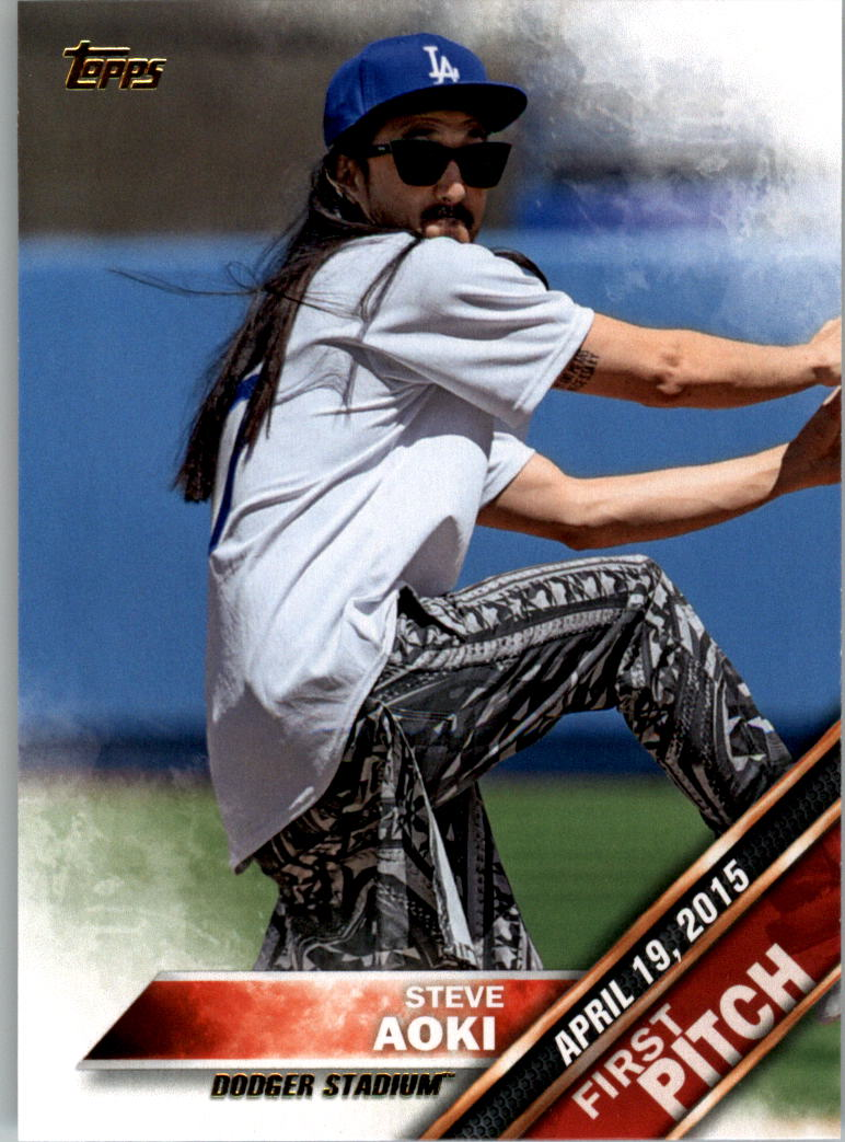 2016 Topps First Pitch #FP16 Steve Aoki