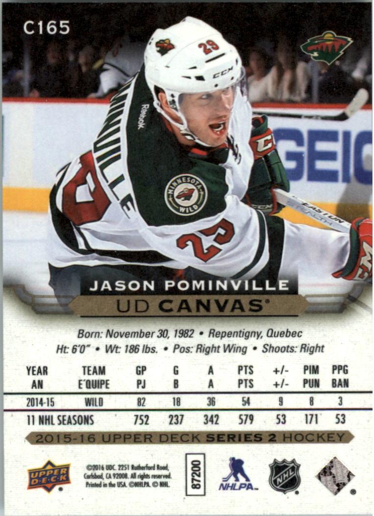 2015-16-Upper-Deck-Canvas-Hockey-Card-Pick miniature 185