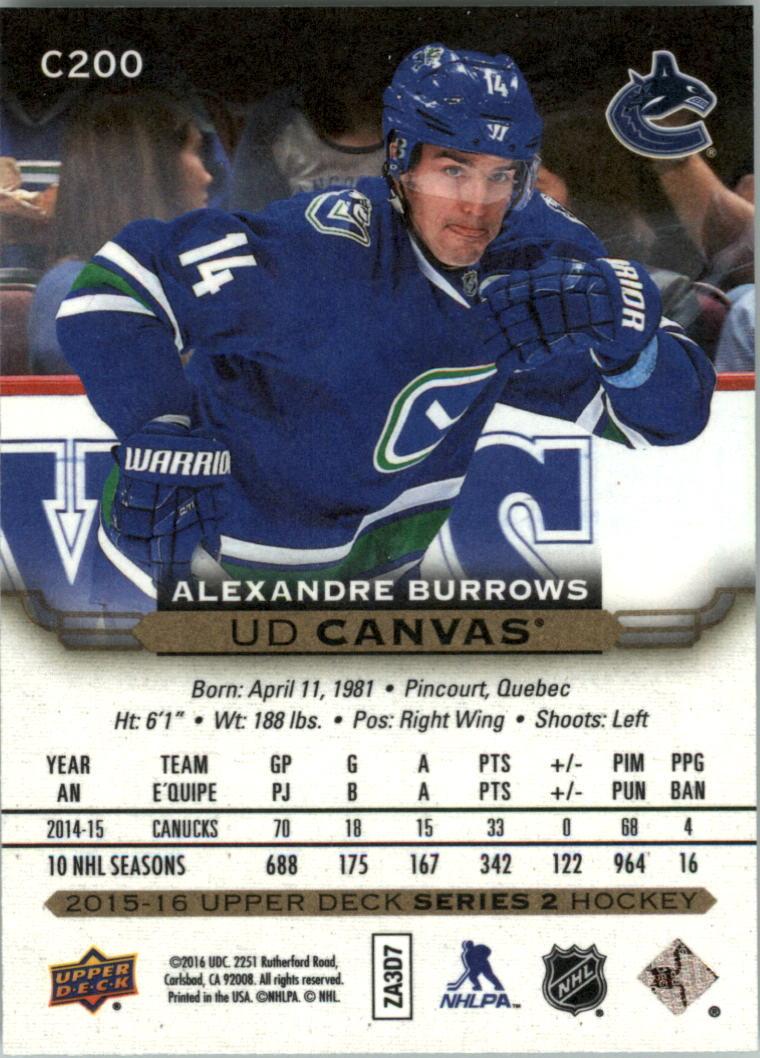2015-16-Upper-Deck-Canvas-Hockey-Card-Pick miniature 211