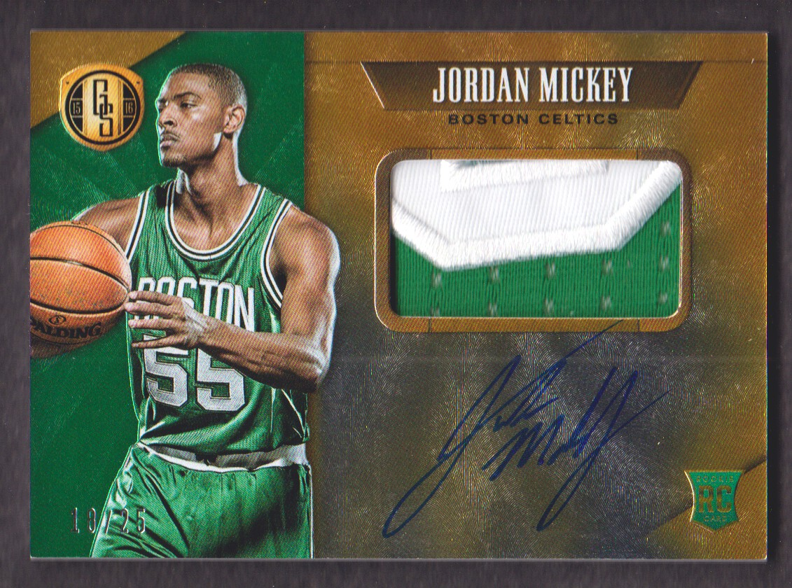 2015-16 Panini Gold Standard Rookie Jersey Autographs Prime #334 Jordan Mickey