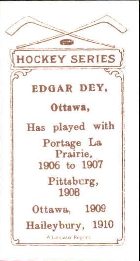 1910-11 C56 #6 Edgar Dey RC back image