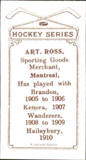 1910-11 C56 #12 Art Ross RC back image