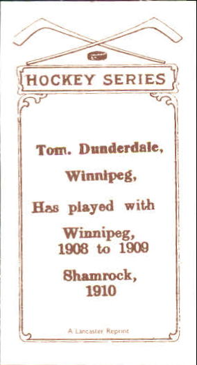 1910-11 C56 #14 Tom Dunderdale RC back image