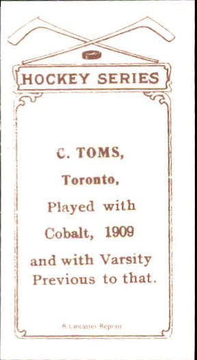 1910-11 C56 #29 C.Toms RC back image