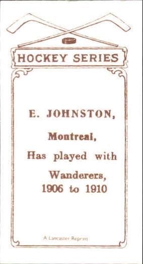 1910-11 C56 #30 Ernest Johnson RC back image