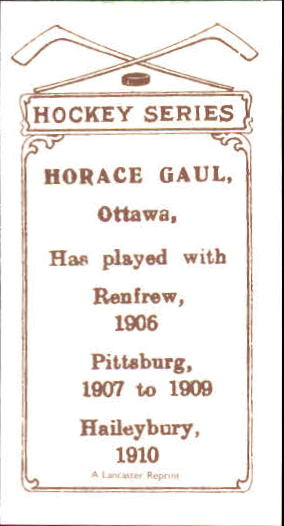 1910-11 C56 #31 Horace Gaul RC back image