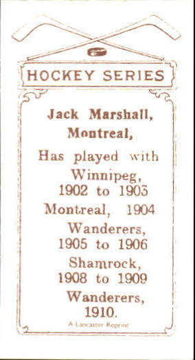 1910-11 C56 #35 Jack Marshall RC back image
