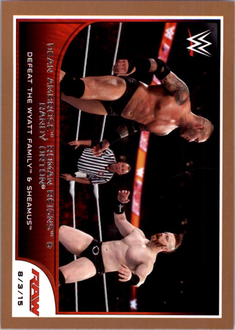 2016 Topps WWE Road to WrestleMania Bronze #72 Dean Ambrose