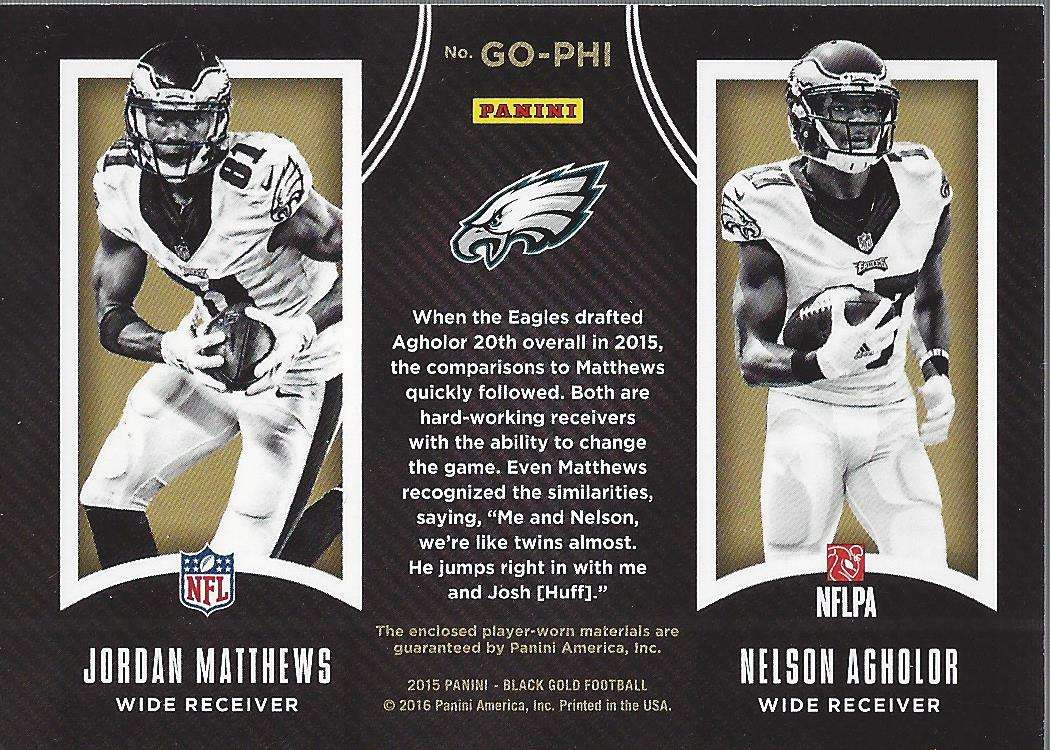 new style 61186 78d32 Details about 2015 Black Gold Golden Opportunity Jordan Matthews Nelson  Agholor Jersey/199
