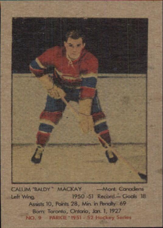 1951-52 Parkhurst #9 Calum Mackay RC
