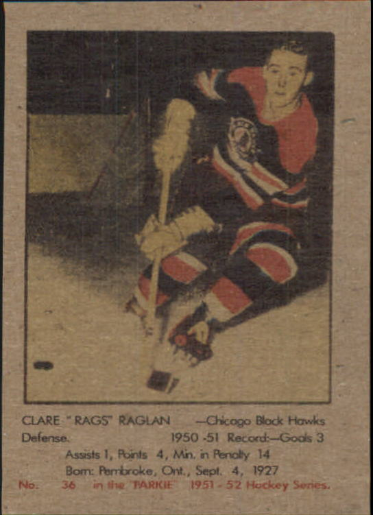1951-52 Parkhurst #36 Clare Raglan RC