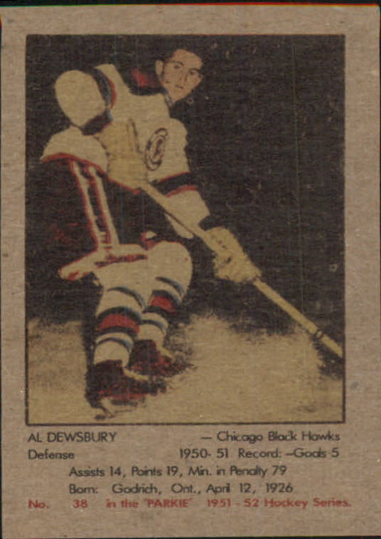 1951-52 Parkhurst #38 Al Dewsbury RC