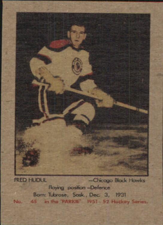 1951-52 Parkhurst #45 Fred Hucul RC