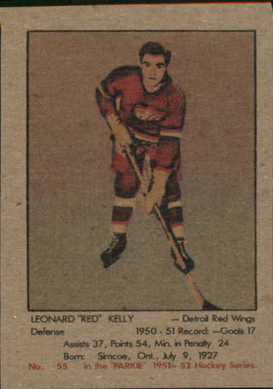 1951-52 Parkhurst #55 Red Kelly RC