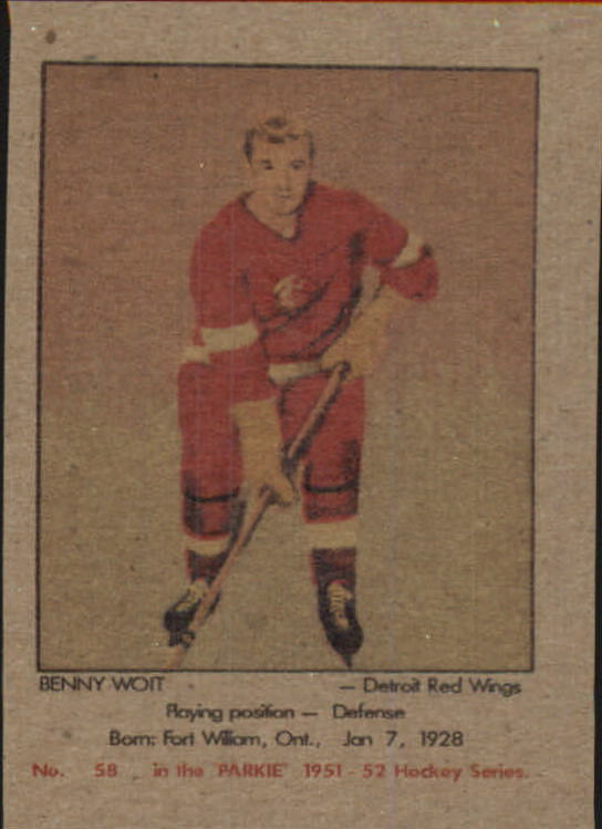 1951-52 Parkhurst #58 Benny Woit RC