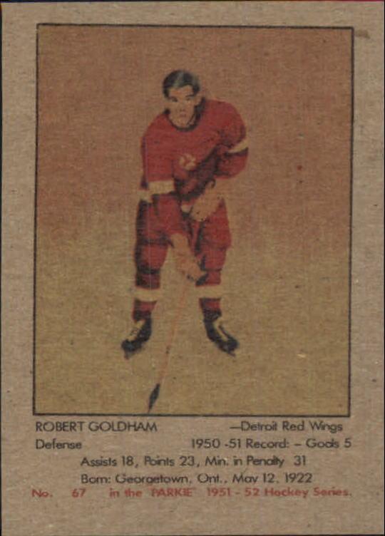 1951-52 Parkhurst #67 Bob Goldham RC