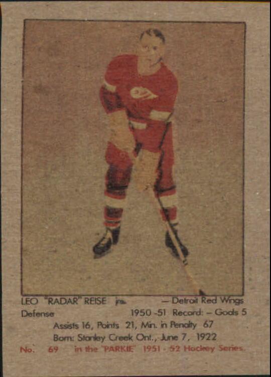 1951-52 Parkhurst #69 Leo Reise Jr. RC
