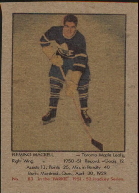 1951-52 Parkhurst #83 Fleming Mackell RC