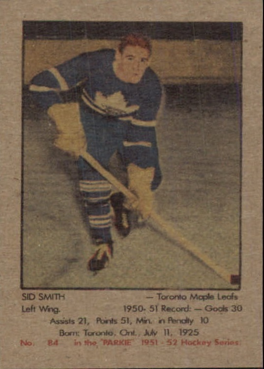 1951-52 Parkhurst #84 Sid Smith RC