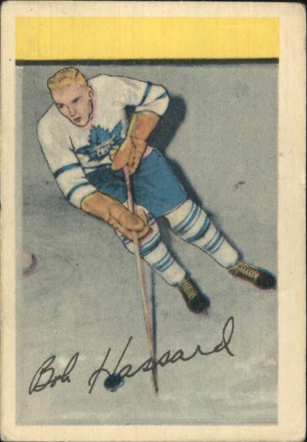 1952-53 Parkhurst #105 Bob Hassard RC
