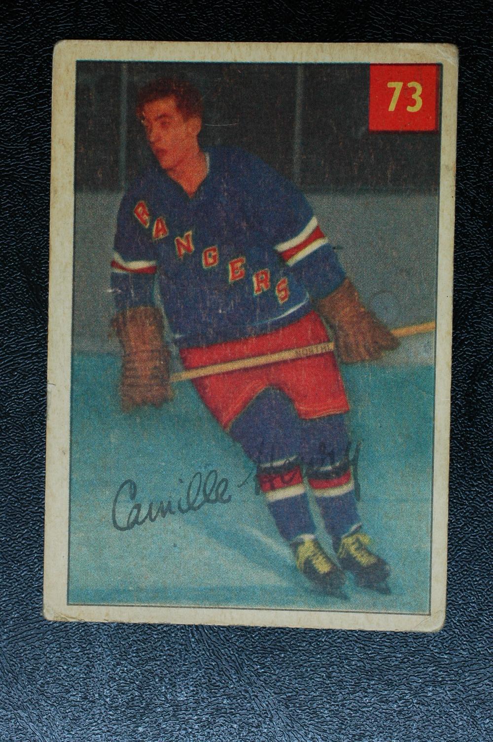 1954-55 Parkhurst #73 Camille Henry RC