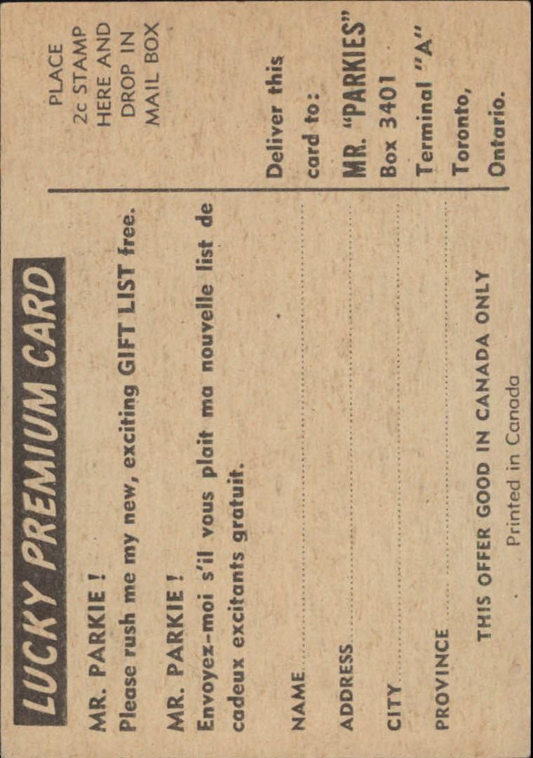 1954-55 Parkhurst #83 Ike Hildebrand RC back image
