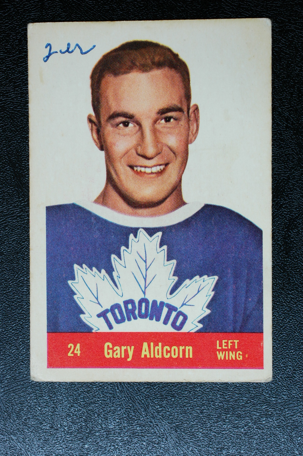 1957-58 Parkhurst #T24 Gary Aldcorn RC