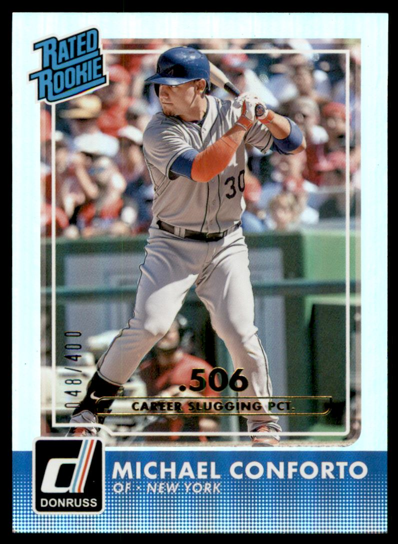 2016 Donruss Stat Line Career #38 Michael Conforto RR/400