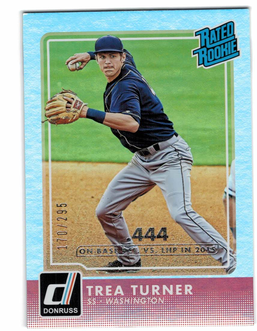 2016 Donruss Stat Line Season #33 Trea Turner RR/400