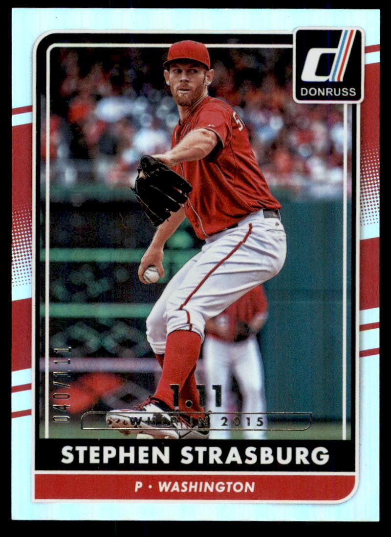 2016 Donruss Stat Line Season #154 Stephen Strasburg/111