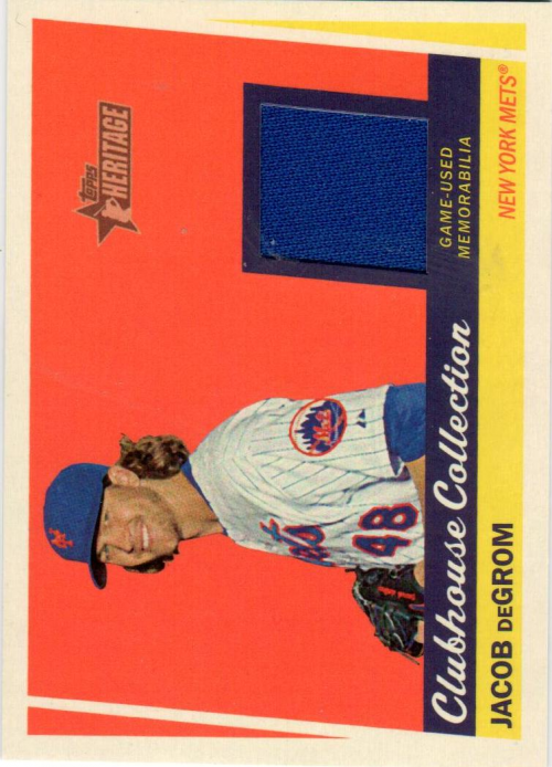 2016 Topps Heritage Clubhouse Collection Relics #CCRJDE Jacob deGrom
