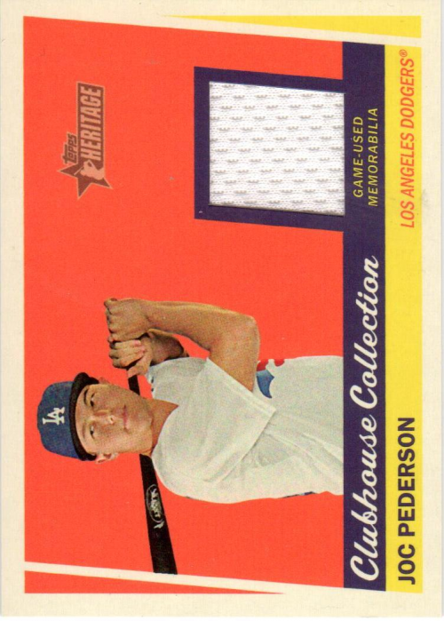 2016 Topps Heritage Clubhouse Collection Relics #CCRJP Joc Pederson