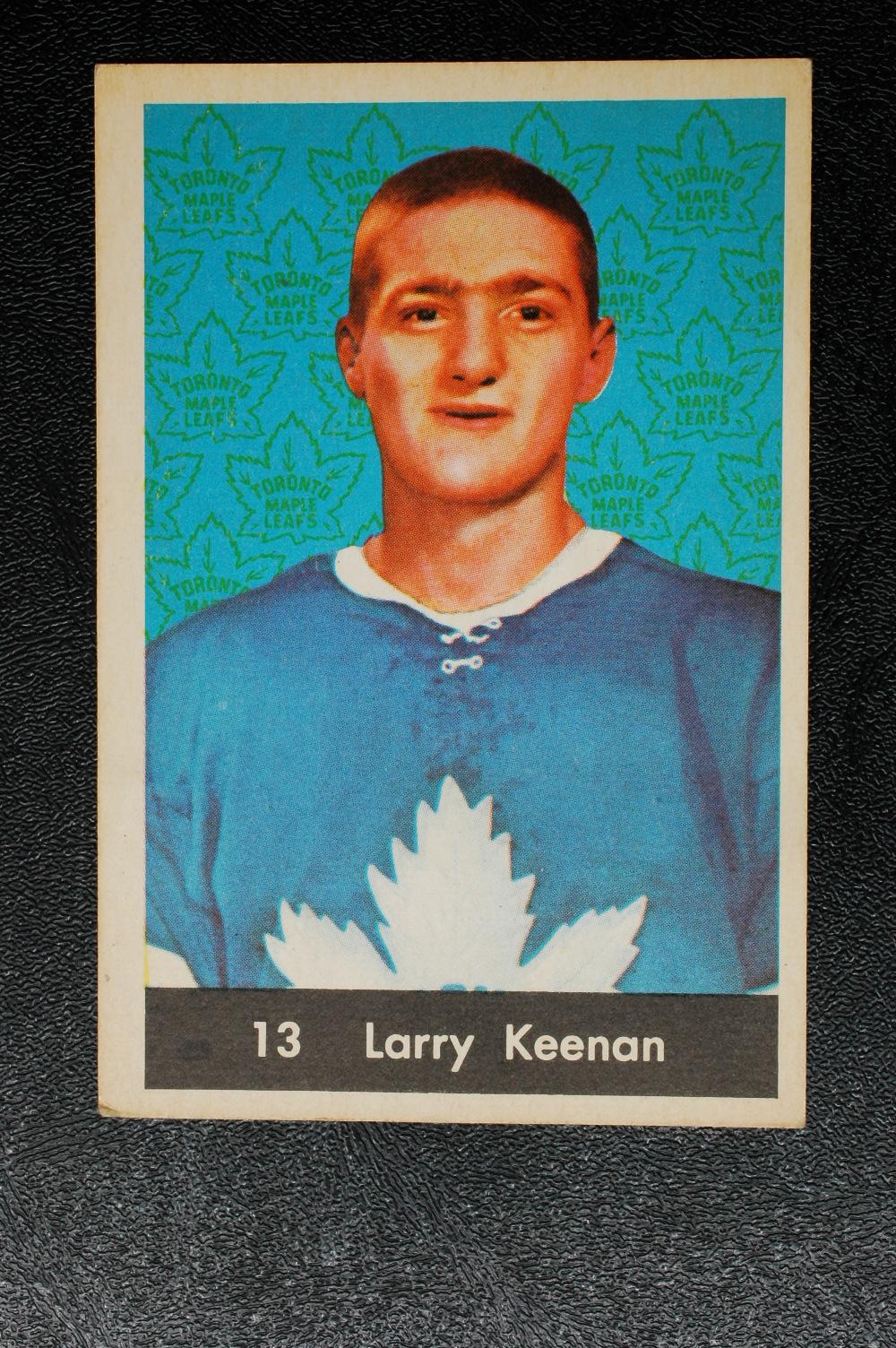 1961-62 Parkhurst #13 Larry Keenan RC