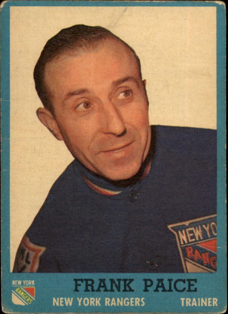 1962-63 Topps #61 Frank Paice TR RC