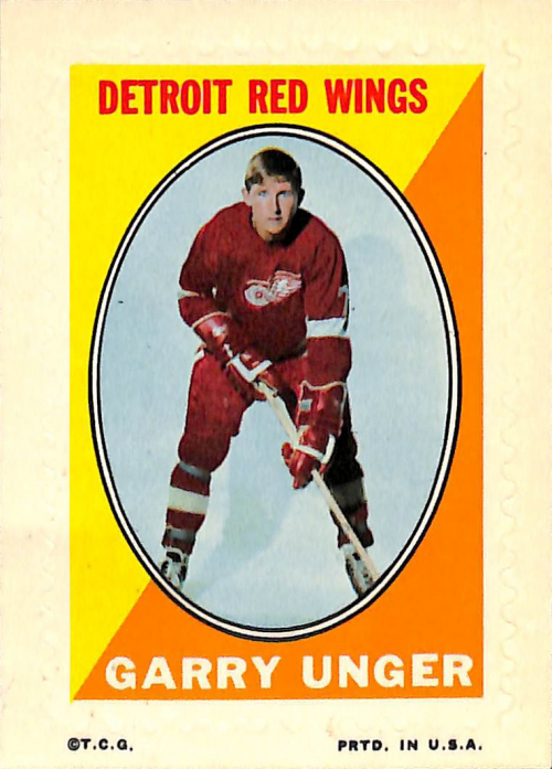 1970-71 Topps/OPC Sticker Stamps #30 Garry Unger