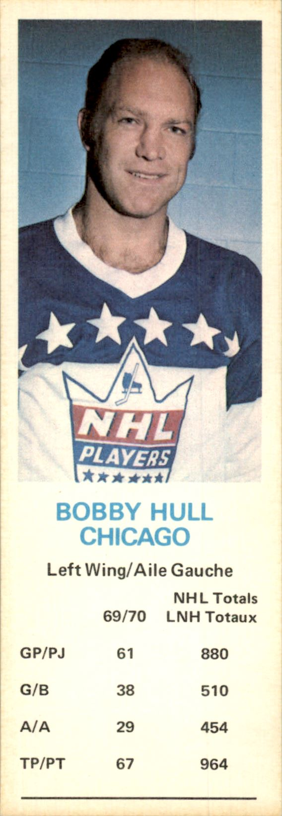1970-71 Dad's Cookies #59 Bobby Hull